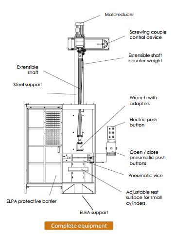 EL60 gázpalack beszelepelő rajz