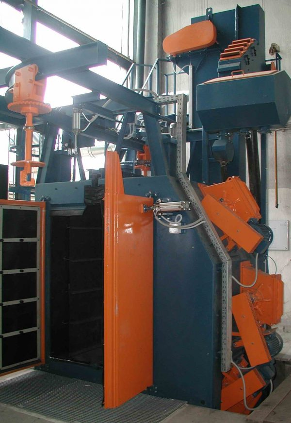 HC 1200-3 Y pályás szórókerekes sörétező gázpalack tisztítás