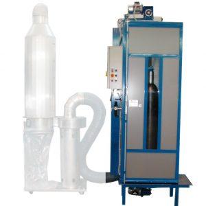 RCP 270 gázpalack tisztító kabin