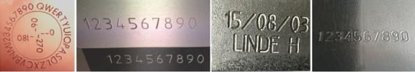gascylinder marking examples