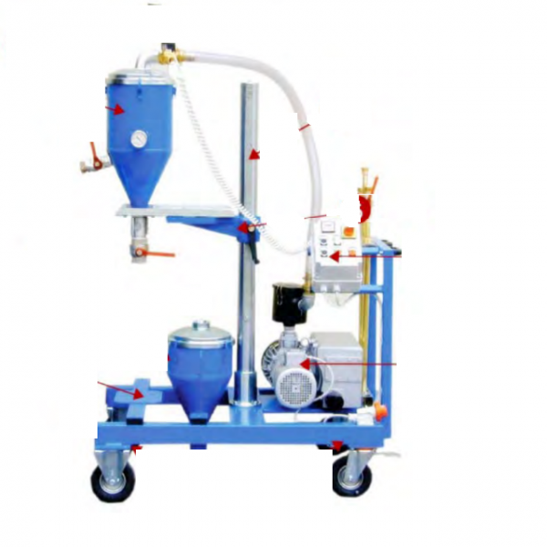 TOTEM Galaxy 2 -vacuum controlled powder filling and recovery on installed tanks NATO standard