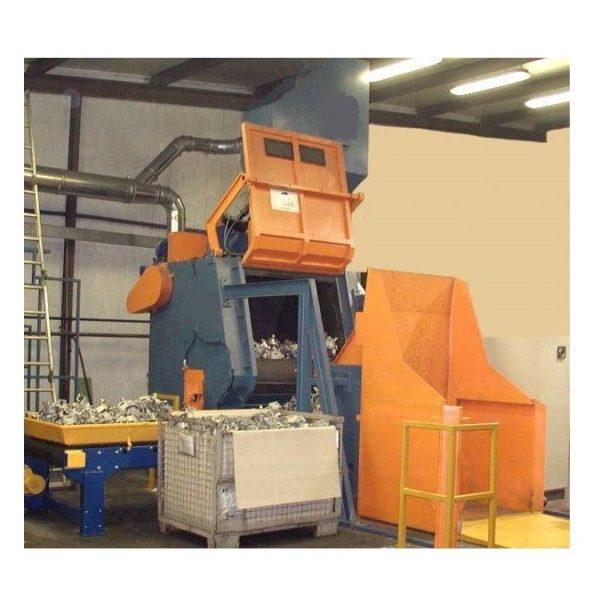 CST-300 horizontal shot blasting machine for gascylinder
