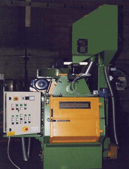 GH rubber belt shot blasting machine for spareparts pictures front
