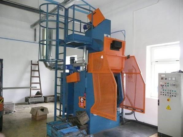 GH rubber belt shot blasting machine for spareparts, complete machine
