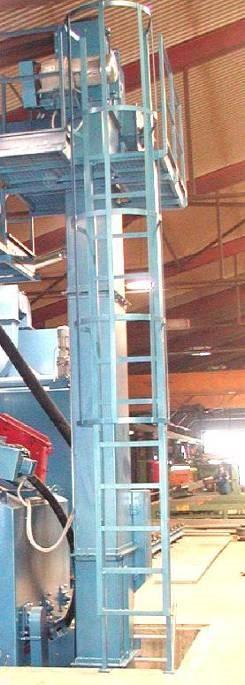 GH rubber belt shot blasting machine for spareparts, elevator