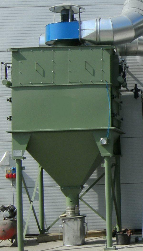 GH rubber belt shot blasting machine for spareparts, dust separation.