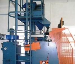 GH rubber belt shot blasting machine for spareparts