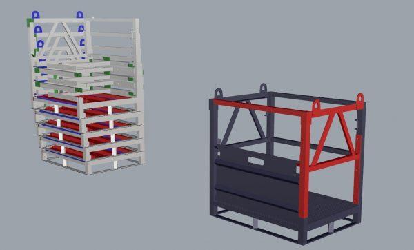 Metal gas cylinder transportation palette easier transport as an option