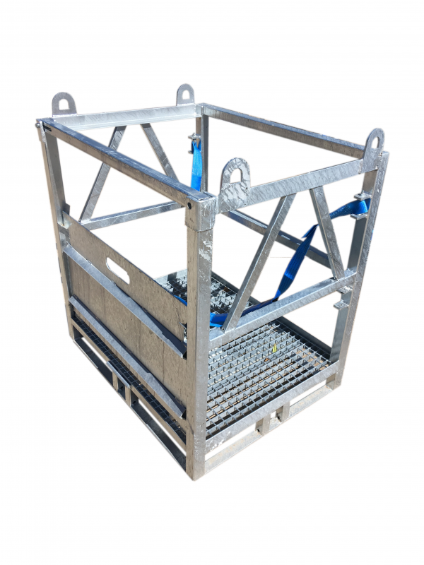 Steel zinc plated gas cylinder transportation metal palette for transportation of 12 pc 50 liter gas cylinder