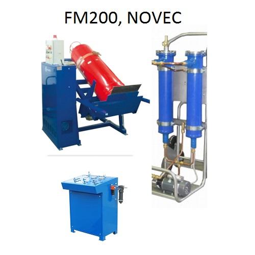Transzfer gépek FM200, NOVEC és inert oltógázokhoz