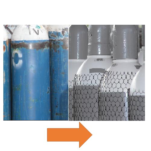 Gázpalack nyomáspróba és felújítás