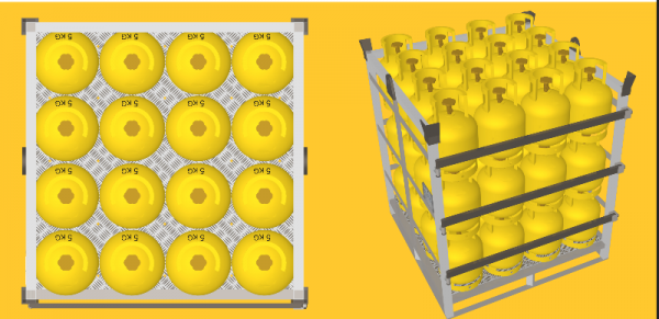 LPG gas cylinder pallet Recoma type, 5 kg