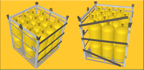 LPG gas cylinder pallet Recoma type, 5-10 kg