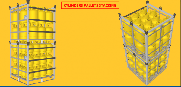 LPG gas cylinder pallet Recoma type, 10 kg
