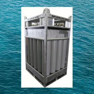 Marine gas cylinder bundle