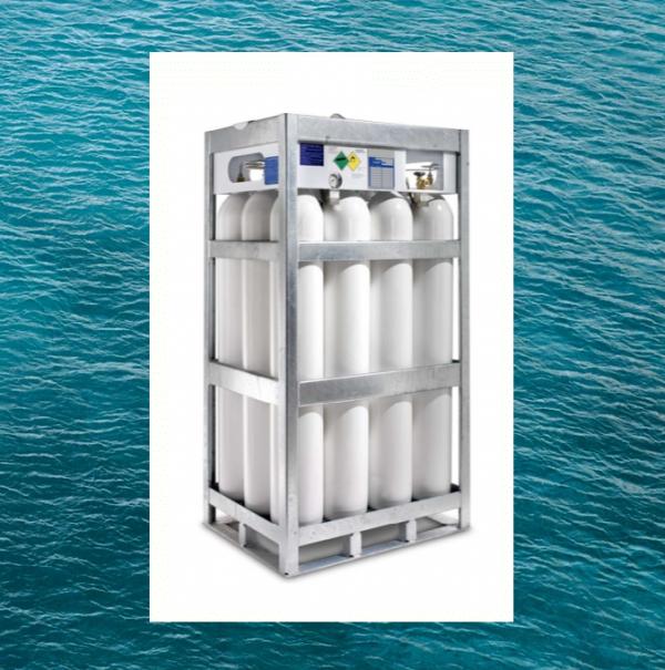 Marine gas cylinder bundel for offshore and sea or onboard ship usage or for oil rig (DNV)