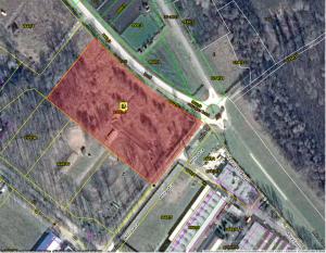 Fejlesztési terület, ipari parkban eladó. Műholdkép