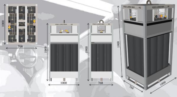 SMIT-NP gas cylinder bundel dimensions