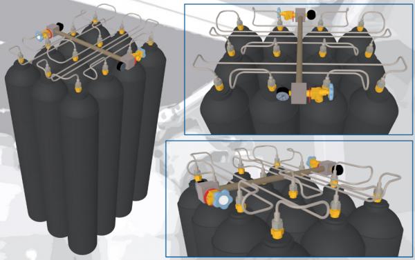 SMIT-NP gas cylinder bundel piping drawing
