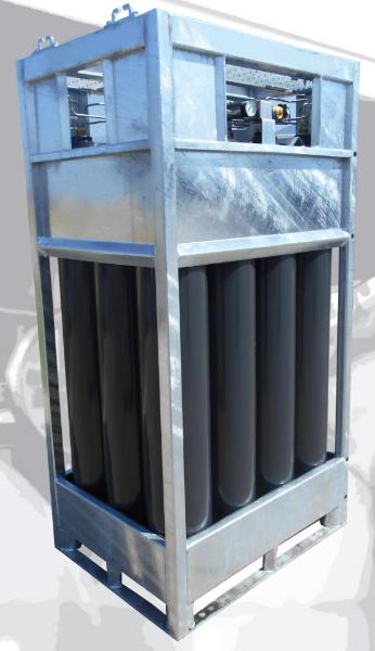 SMIT-NP gas cylinder bundel front-side view