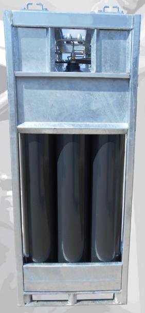 SMIT-NP gas cylinder bundel side view