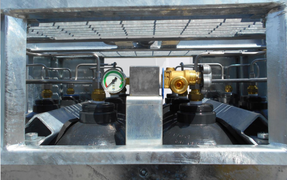 SMIT-NP gas cylinder bundel manifold