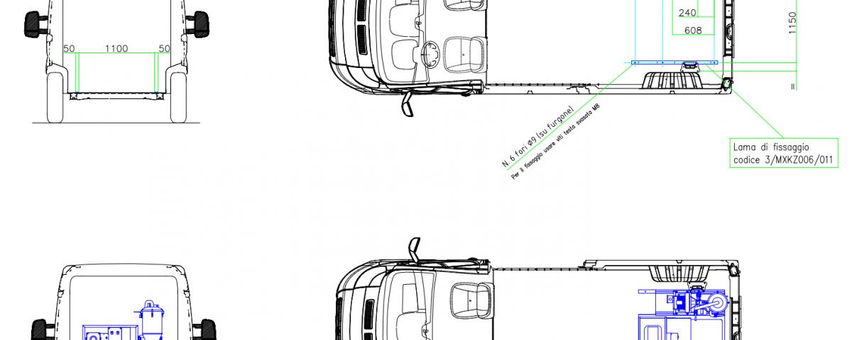 Autóba építés méretek- tűzoltókészülék karbantartó mobil műhely SKID