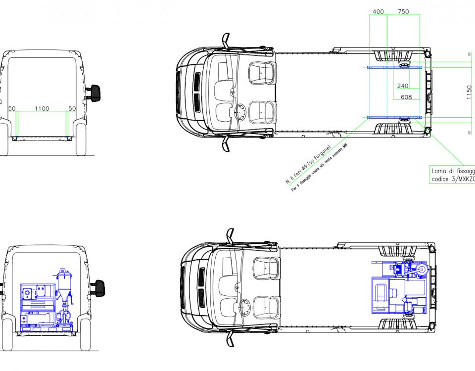 Autóba építés méretek- tűzoltókészülék karbantartó mobil műhely