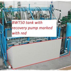 Pressure testing ramp recovery tank