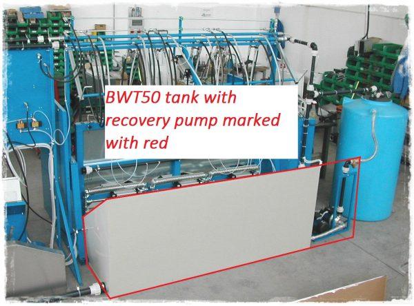 bwt50 visszanyerő tartály 6 állásos nyomáspróbázó géphez