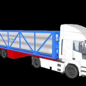 """Típus """"C"""" – ISO konténer gázszállításra rajz vontatóval"""