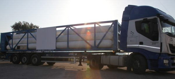 """Type """"C"""" - ISO container for transporting gas with a trailer 3"""