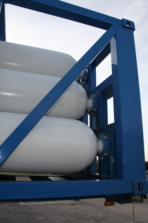 Type C Gas transportation ISO Container frame-gas cylinder fixing