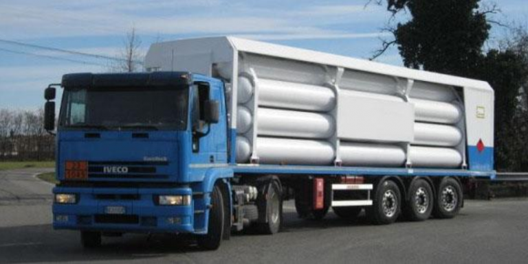 """(English) Type """"B"""" most protected gas cylinder trailer"""