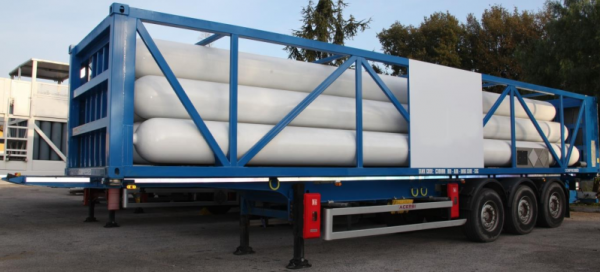 Type C Gas transportation ISO Container side view