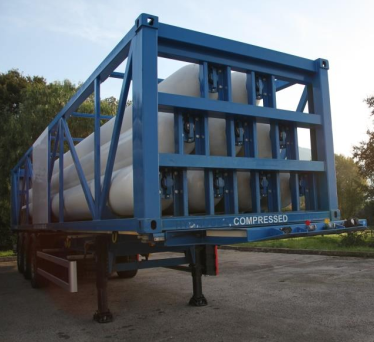 Type C Gas transportation ISO Container standing without tractor
