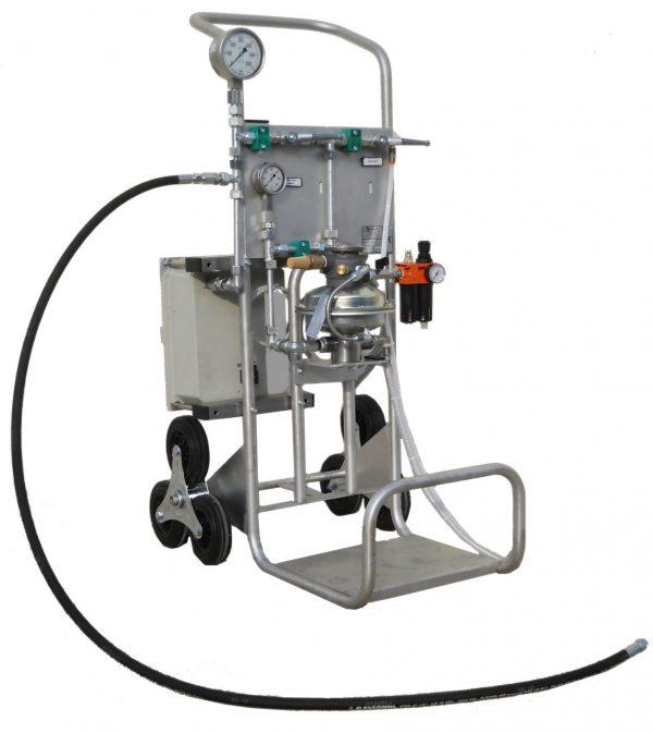 [:hu]Analóg körkörös nyomsérték regiszter víznyomáspróbához és folyadékokhoz egy N7/4 pumpán[:en]Circular recorder analog for water pressure testing and for liquide pressure registry on N7/4 pump[:]
