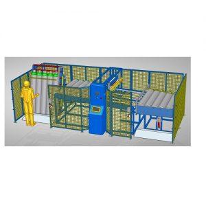 Gázpalack feliratozó automata gép nagy kapacitású sorok részére. kis kép