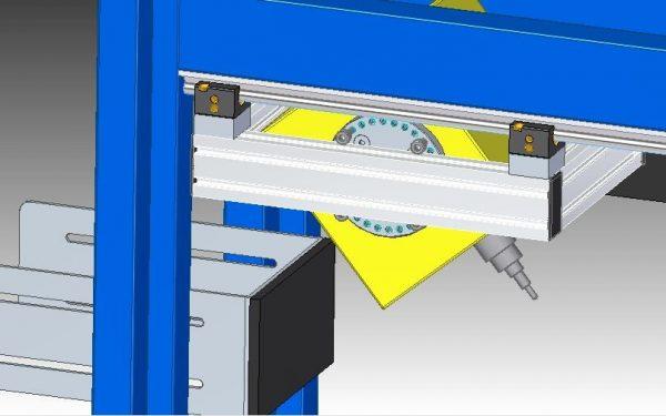 Marking head for gas cylinder marking rotating head
