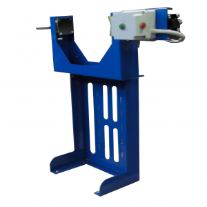 AIR4/BIL-S pnaumatic vice for gas cylinder filling, installation on scale.