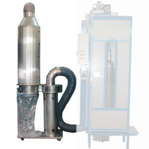 RCP/FILT+RCP/CA - Porelszívó és porleválasztó a gázpalackok külső tisztításához, RCP270-es géphez.