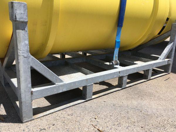 Sella HV metal pallet for big tank. Metal cage. Metal stock for high capacity tank