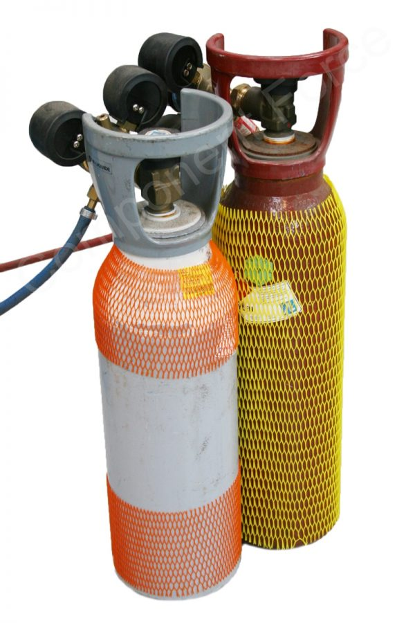 Gas cylinder plastic protection net