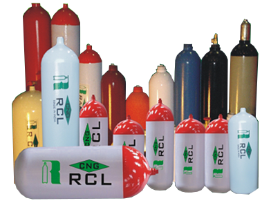 Gas cylinder group without background