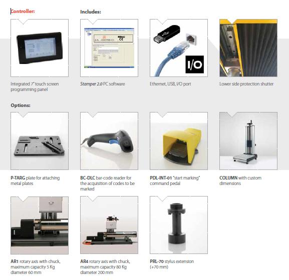 Asztali pontgravírozó gép opciók MK3-S50, MK3-S70