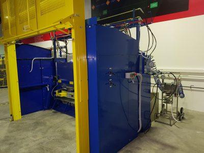 FIT50 Bucharest Románia, gázpalack nyomáspróbázó gép Helinick üzem kémiai oltóanyagok kezelése FM200, NOVEC