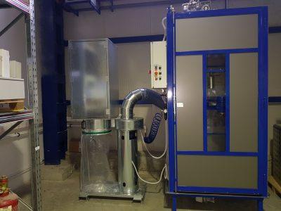 Módosított RCP270 nagyobb gázpalackok külső csiszolásos tisztítása