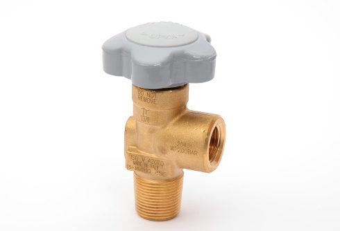 simple brass gas cylinder valve