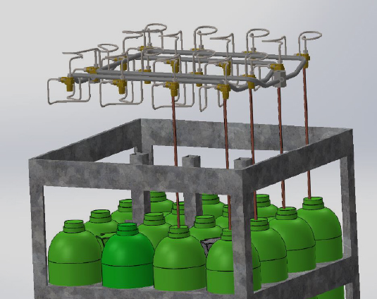 double phase management in gasa cylinder bundel