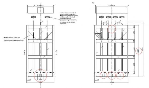 GASy Gas cylinder bundle dimensions